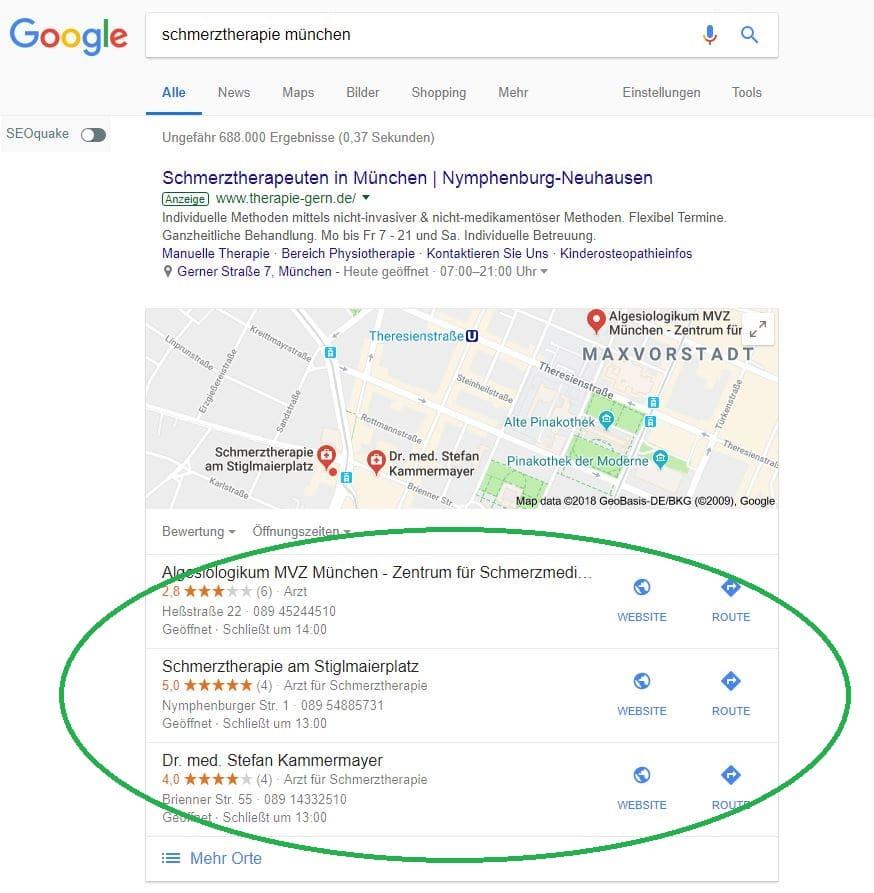 Beispiel Google Suchanzeige