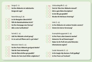 Checkliste Praxishomepage I docleads