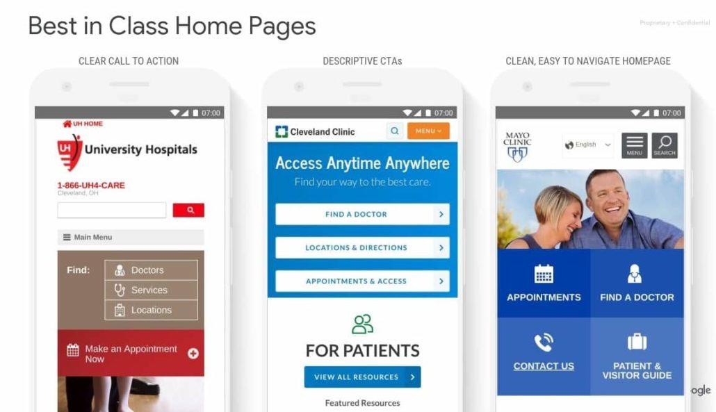 Webdesign für Ärzte: Das sind Googles Best